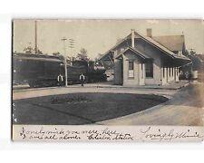 ST1956: RR STATION CLINTON NJ (Scarce RPPC/postcard 1906 PM)