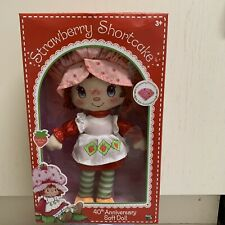Strawberry Shortcake 40th Anniversary Large Soft Ragdoll, New in Display Box