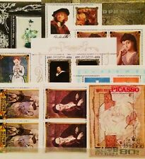 * ART PICASSO RUBENS PAINTING ARTISTS 9 SOUVENIR MINI SHEETS THEMATIC 06310718 *