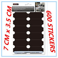 600 X SELF-ADHESIVE BLACKBOARD STICKERS WHITE COLOURED MARKER CRAFT REMOVABLE AP