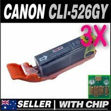 3x Grey Ink for CANON CLI-526GY for Pixma MG6150, MG6250, MG8150, MG8250
