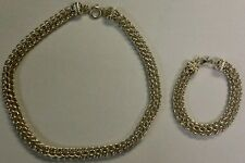 Sterling Silver - SIGNED CNA Chunky Chain 96.6g Necklace & 42.5g Bracelet