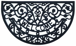 Imports Decor Rosemary Welcome Black Doormat