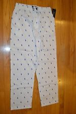 Men's Polo Ralph Lauren Sleepwear White Pajamas Pants Size: Large  New With Tag!