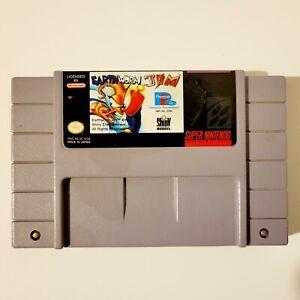 Earthworm Jim Snes 1994 Tested Authentic Super Nintendo Entertainment Center