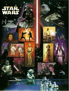 STAR WARS, USPS JUMBO STAMP IMAGE JUMBO POSTCARD, STAR WARS 2008, NO STAMPS.