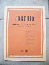 Partition Torchio Passages difficiles et à Solo Flûte et Octavin Music Sheet