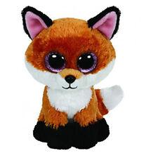 Ty Beanie Boos 6-Inch Slick Brown Fox Plush Beanie Baby Plush Stuffed Doll Toy C