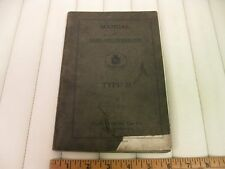 1917 CADILLAC Type 55 Car Owners Instruction Manual