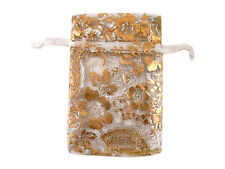 30 x Organza Bags Gold Flower Jewelry Christmas Gift Pouch Candy Wedding Favor