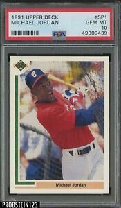 1991 Upper Deck #SP1 Michael Jordan Chicago White Sox HOF PSA 10 GEM MINT