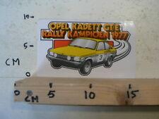 STICKER,DECAL OPEL KADETT OPEL KADETT GT/E  RALLY KAMPIOEN 1977 AUTO A
