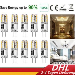 10X G4 LED Lampen Halogenlampe Stiftsockellampe Stiftsockel Birne Leuchtmittel