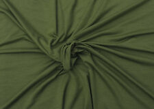 Bamboo Spandex Fabric Jersey Knit by Yard OLIVE 4 Way Stretch 5/17