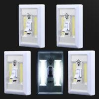 5 PACK COB LED Wall Switch Wireless Closet Cordless Night Light Battery Operated