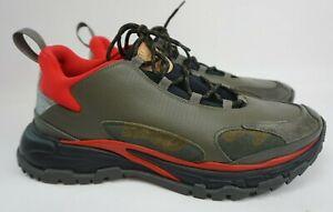 Valentino Garavani Trekking Green Red Camo Low Top Sneakers Men's Shoes Size 46
