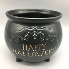 MAGENTA Halloween Candy Bowl Black Witch Cauldron Gold HAPPY HALLOWEEN Decor NEW