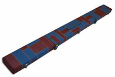 Handmade Wide 3/4 Red/Blue Tournament Style Snooker Cue Case with 3 Compartments