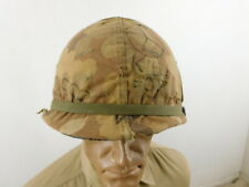 Nice Vietnam Us Camo Covered M-1 Helmet With Hand Written Slogans Of The Time