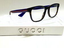 Authentic GUCCI GG0004O 003 Havana/Blue/Red Full Rim Men's 53mm RX Eyeglasses