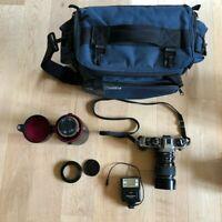 Complete Bundle Konica 35mm Film Camera Sigma Zoom Lenses Made in Japan