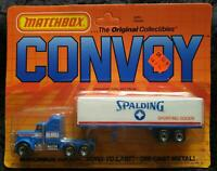 MATCHBOX CY9 CONVOY KENWORTH SPALDING SPORTING PETERBILT - OPENED BLISTER PACK