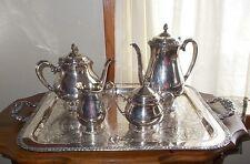 Oneida Community Silverplate Henley 6-Piece Coffee Tea Set w Cream & Sugar