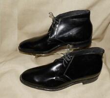 """Vtg 60s Mens Rat Pack Beatles Mod Black Ankle Boot """"Gold Crest"""" Shoes Nos 9 1/2"""