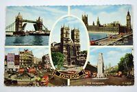 Vintage 1960 London Landmarks UK United Kingdom Postcard