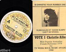 CHRISTIE ALLEN He´s My Number One  *AUSTRALIA ORIGINAL 70s POP SINGLE *MUSHROOM