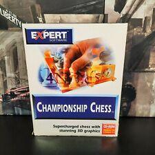 Meisterschaft Chess-seltene 1997 Expert Software PC Spiel Original Big Box Edition