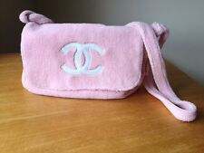 Authentic CHANEL Precision Shoulder Bag French Terry/Pile~ Pink