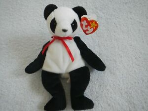 DECEMBER 6 BIRTHDAY - FORTUNE - PANDA BEAR - TY BEANIE BABY