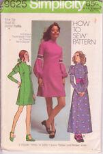 "9625 SIMPLICITY c.1971 - Princess Seam DRESS Lantern/Juliet Sleeve - JrSz 7 B32"""