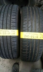 215 55 18 CONTINENTAL 7mm PART WORN TYRES FITTED AND BALANCED