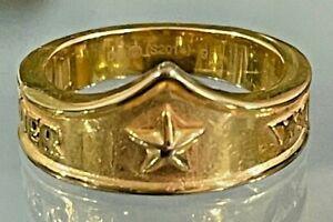 DC Wonder Woman Gold Tone S2014 Size 9 Ring