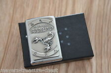 ZIPPO Zodiac Scorpio 24.10 - 22.11 wonderful massive emblem lighter