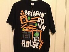 """ANGRY BIRDS SIZE LARGE """"BRINGIN' DOWN THE HOUSE"""" T-SHIRT-NEW"""