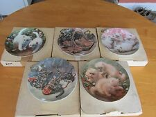 Set of 5 Beautiful Knowles Amy Brackenbury Cat Tale Collection Plates