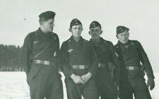 German Panzer Crewmen with Lugers, Russia, WW2, Original Photo