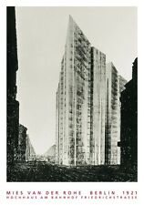 Mies van der Rohe Hochhaus Friedrichstrasse Poster Kunstdruck Bild 70x100cm