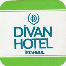 Turkey Istanbul Divan Hotel Vintage Luggage Label sk1237
