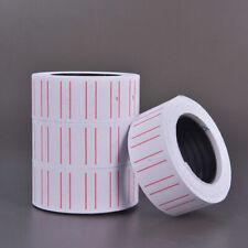 500pcs 1 Roll Price Gun Tag Sticker Label Refill Mx 5500 Paper White Red Line Us