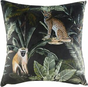 Kibale Animals velvet cushion Covers by Evans Lichfield