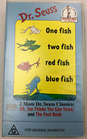 One Fish Two Fish Red Fish Blue Fish, Dr Seuss, VHS Video Cassette Tape PAL G