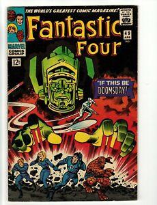 Fantastic Four #49 Marvel 1966 Silver Age KEY 2nd Galactus Silver Surfer FN+