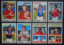 2019 Topps Heritage Minor League Philadelphia Phillies Base Team Set of 8 Cards