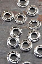 Lot of 20 Pieces Tibetan Silver 15mm Antique Silver Tone Donut Ring Spacer Beads