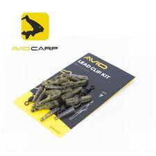 """7  x """"AVID CARP LEAD CLIP KIT"""" Lead Clip Wirbel #8 Tail Rubber (1,26 EUR/St.)"""