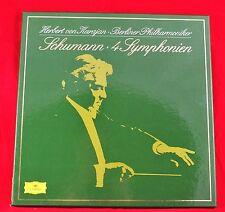 *- Vinyl-SCHALLPLATTEN -Box- SCHUMANN - 4 Symphonien - Herbert von KARAJAN